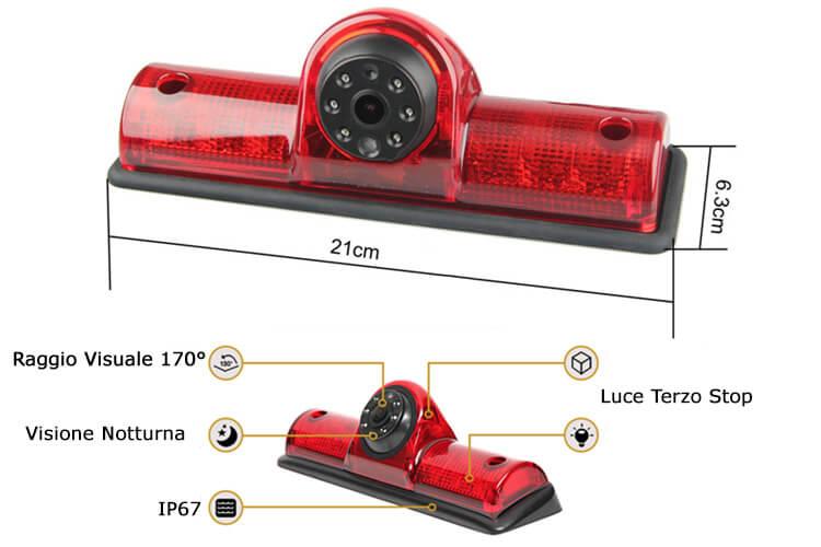 Plafoniere A Led Per Furgoni : Telecamera retromarcia universale per furgone camper fuoristrada