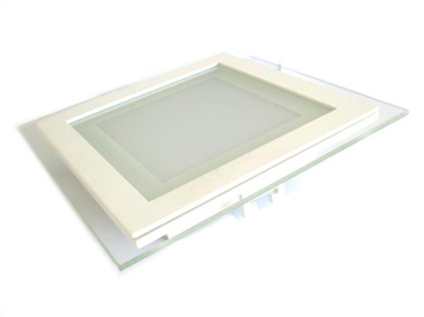 Faretto led da incasso quadrato w bianco neutro con vetro stile